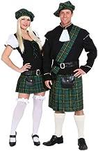Disfraz de escocesa de 3 piezas Vestido, cinturón y gorro.