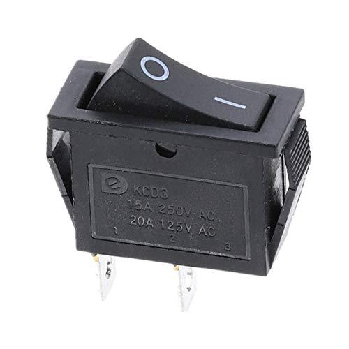 HGLNBN Interruptor basculante 10 PCS 220V ON/Off SPST Rocker Interruptor de un Solo Polo Solo Tiro 2 Posición 20A 125VAC con luz LED (Color : 2p)