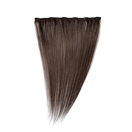Love Hair Extensions Einteilige 100% Echthaar-Clip-In-Extensions - maximales Volumen Farbe 2 - Dunkelbraun - 46cm, 1er Pack (1 x 35 g)