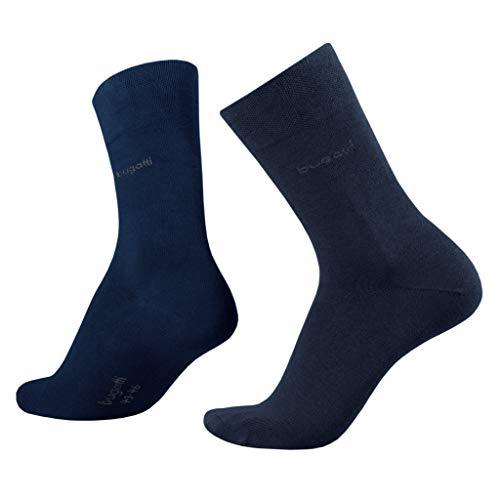Bugatti Basic Mens Socks 2er Pack 6702 545 dark navy dunkelblau Strumpf Socken, Size:43-46