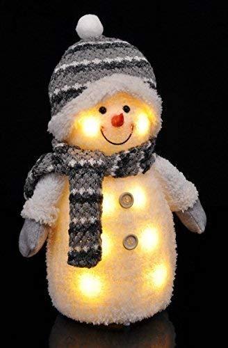 Gravidus Süßer Deko Schneemann mit LED Beleuchtung Weihnachtsdeko