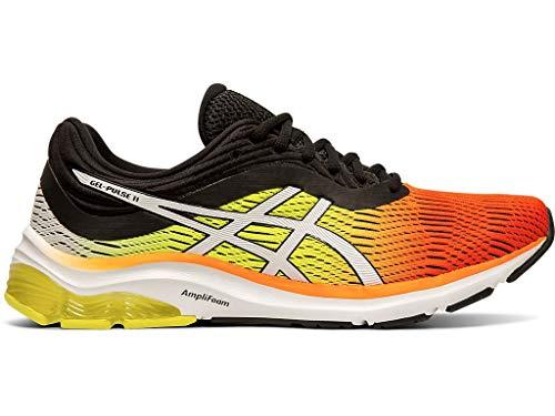 ASICS Men's Gel-Pulse 11 Running Shoes, 11.5M, Shocking Orange/Black