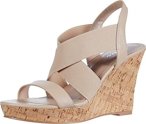 CHARLES BY CHARLES DAVID Women's Wedge Sandal Platform, Nude, 6.5