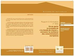 Rapport d'information  sur la qualité et la traçabilité des denrées alimentaires