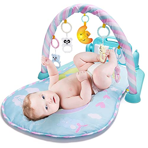ZXJ Baby Play Mat Activity Gym Center Juguetes para bebés Kick & Play Piano para niña niño Recién Nacido Tummy Time Playmat