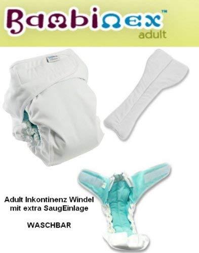 Bambinex ** Waschbare Adult Windel + extra Saugeinlage ** InkontinenzWindel/Erwachsenenwindel/Windelhose (Gr. 4)