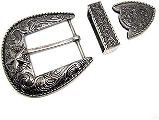 XYong Star Pin Buckle Western Cowboys Belt Buckles Metal Type DIY Suitable for Width Belt Buckle (Red)
