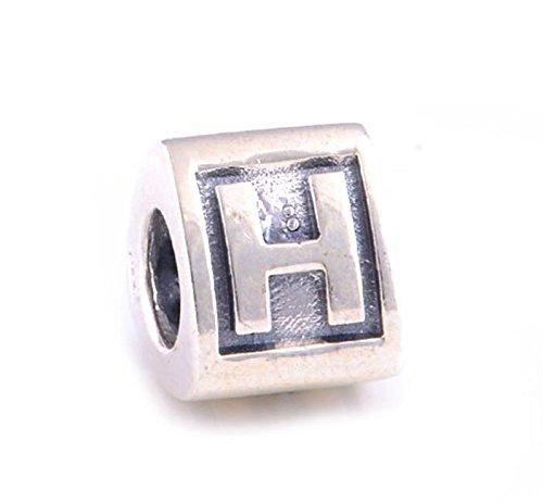 Argent 925 Sterling Alphabet Lettre \
