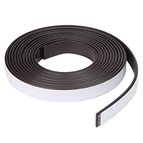 RKZCT 8.8 Feet Magnetic Strips with Adhesive Backing Magnetic Tape Roll Flexible Magnet Tape for Crafts, DIY Projects, Office Supply (Width: 0.47 in/12mm, Thick: 0.08 in/2mm)