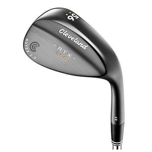 Cleveland Golf Men's 588 RTX 2.0 Muscle Back Standard Bounce Satin Wedge, Black