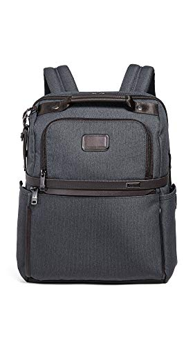 Tumi Men's Alpha Slim Solutions Brief Backpack, Anthracite, Grey, One Size
