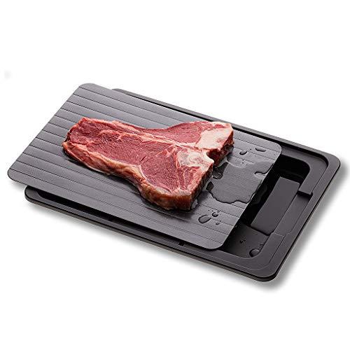 Schnelle Auftauplatte Schnelles Auftauen Tablett Planche Dekongelation Auftauen Tiefkühlkost Fleisch Obst Schnelles Auftauen Platte Board Abtauen T Küchenhelfer