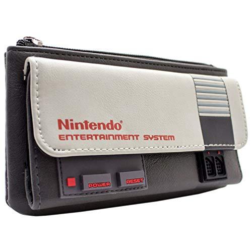 Cartera de Nintendo NES Tema de la Consola Gris