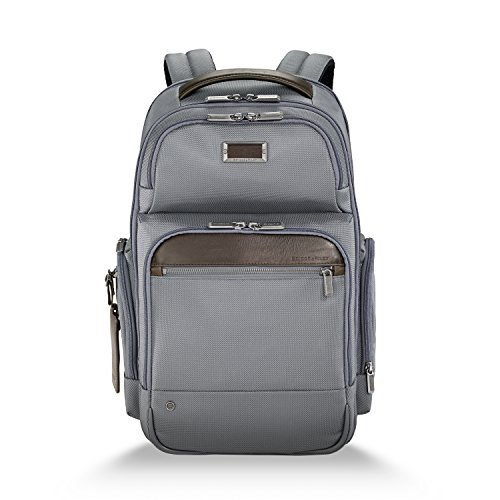 Briggs & Riley @Work Laptop Backpack for women and men. Fits up to 15.6 inch laptop. Business Travel Laptop Backpack with RFID Blocking Pocket, Grey