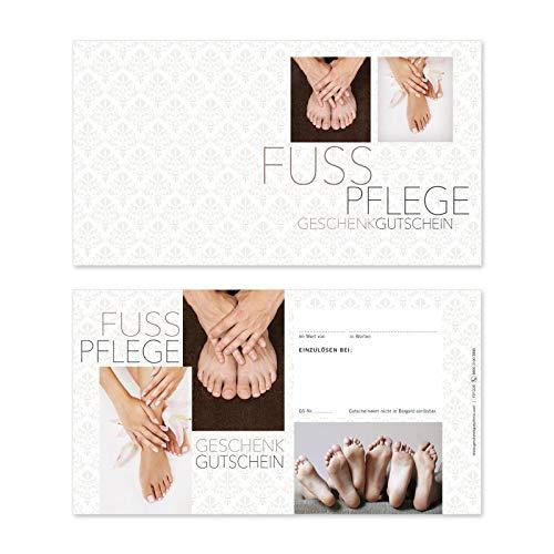 10 Gutscheinkarten Geschenkgutscheine. Gutscheine für Fußpflegeinstitut Fußpflege. Fußpflegegutschein. FU1228 geschenkgutschein gmbh