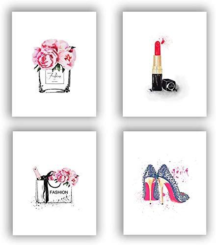 KAIRNE 4er Set Premium Poster als Wandbild, Moderne Wand-Bilder für das Wohnzimmer, Stilvolles Set mit passenden Bilder, Bilderwand Schlafzimmer Wandbilder ohne Rahmen