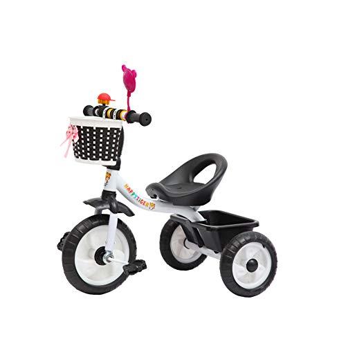 Kinder Dreirad 3 Wheeler Bike, 2-5 Jahre Smart Design Ride on Trike, Kinder Kinder Multi Colored Outdoor Pedal Bike,Schwarz