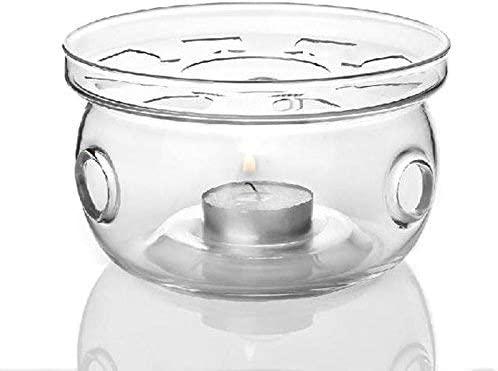 Tealight Warmer for Borosilicate Glass Teapots Coffee Tealight Heater Stainless Steel Teapot Warmer Candle Base Hollow Frame Design Candle Holder