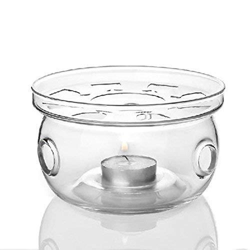 Yeme Borosilicate Glass Teapot Warmer Heat Resistant Base