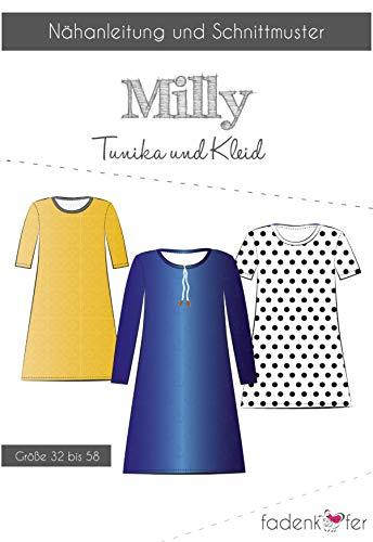Schnittmuster und Nähanleitung - Damen Tunika Kleid - Milly