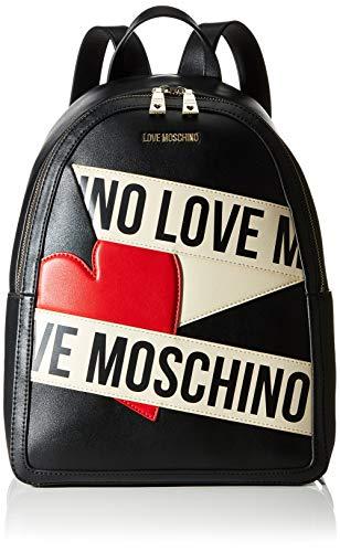 Love Moschino CALF PU, Borsa da donna, Nero, Normale