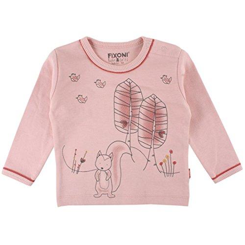 Fixoni T-Shirt à Manches Longues - Babytales 32821 20-35 - Bébé Fille - 80 (12 Mois) Rose Gris