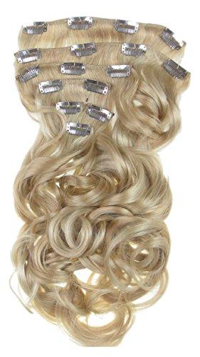 Toutes les couleurs disponibles, Ensemble De Pinces Extensions De Cheveux Ondulées Extra Longues Blond Suedois 61 Cm 160 Grammes