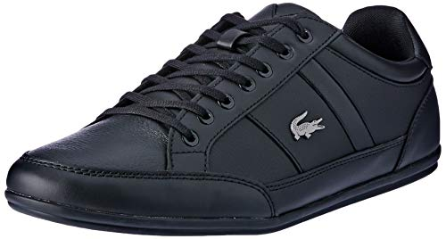 Lacoste Herren Chaymon BL 1 CMA Sneaker, Schwarz (Black/Black), 43 EU
