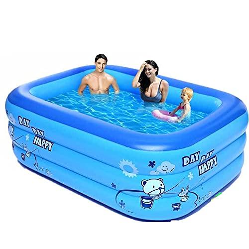 HSBRO Kinderzwembaden voor achtertuin, opblazen zwembaden voor volwassenen boven de grond zwembaden, Quick Set Familie…