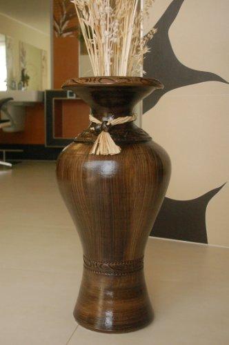 Deko-Shop-Hannusch Edle Vase/Bodenvase aus Tonkeramik +++Handarbeit+++