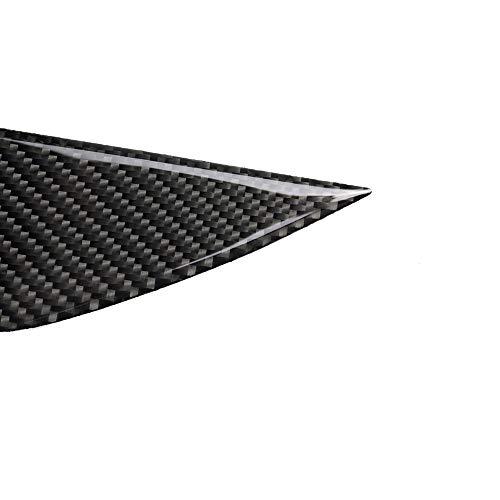 Leepesx Reemplazo de la Cubierta de la Linterna de la ceja del párpado Delantero de 2 Piezas de Fibra de Carbono para Nissan 03-08 350Z Z33
