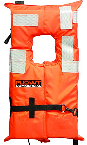 Omega Type I Commercial Off-Shore Life Vest (Orange, Universal)