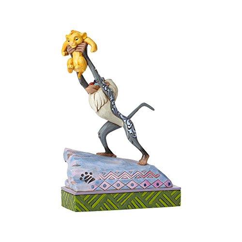 Enesco Jim Shore Disney Traditions Rafiki and Baby Simba On Pride Rock Figurine