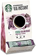 Starbucks VIA Instant Decaf Coffee Packets — Italian Roast — 100% Arabica — 1 box (50 packets)