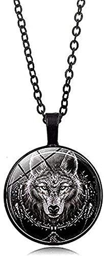 ZGYFJCH Co.,ltd Necklace Fashion 1pcs Wolf Head Pendant Necklace One Power Norse Viking Amulet Necklaces & Pendants Men Women Gift Jewelry Pendant Necklace Gift for Men Women Girls Boys