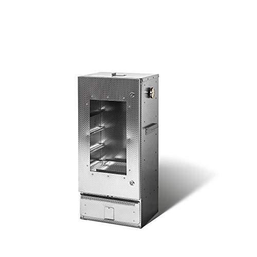 SMOKI- Räucherofen 85x39x33cm aus V2A-Edelstahl mit Scheibe
