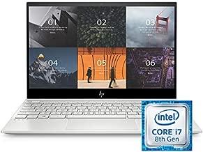 HP ENVY 13-13.99 Inches Thin Laptop w/ Fingerprint Reader, 4K Touchscreen, Intel Core i7-8565U, NVIDIA GeForce MX250 Graphics, 16GB SDRAM, 512GB SSD, Windows 10 Home (13-aq0044nr, Natural Silver)