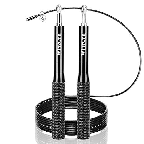 Conditioning Jump Rope Ideal for Crossfit Polar Fire Speed Skipping Rope for Fitness Boxing HIIT Fat Loss with Soft Foam Handle and Heavy Steel Load Interval Training MMA