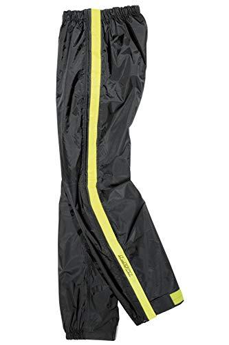 Difi Pantalón impermeable con cremallera – negro y amarillo, XS