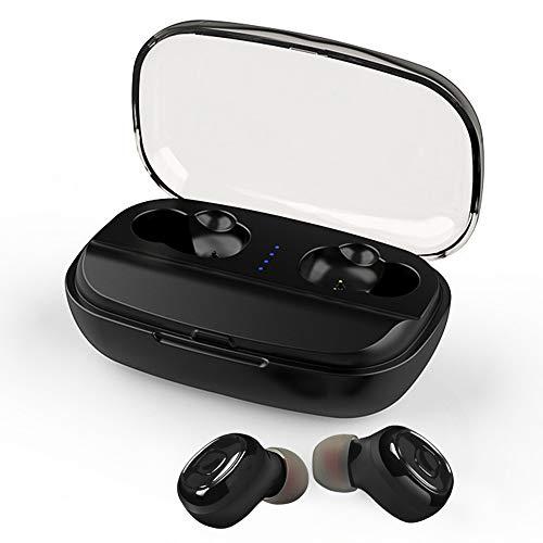 YZPUSI Cuffie Bluetooth 5.0 Auricolari Headphones, 3000mAh Custodia Powerbank Senza Fili Wireless Bluetooth Mini Auto Earbuds con Microfono Waterproof Stereo per Smartphones Huawei