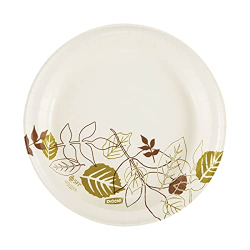 """Dixie 9"""" Medium-Weight Paper Plates by GP PRO (Georgia-Pacific), Pathways, UX9WS, 500 Count (125 Plates Per Pack, 4 Packs Per Case)"""