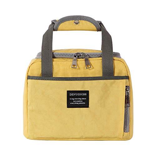ZVLPE Multifunktionale Lunch Bag Waterproof Cooler Bag Picknick Bag Gefrierschrank Reusable Large Capacity Portable Lunch Cooling Tote Bag, Men, Ladies, Travel, Camping Picnic, Beach, gelb