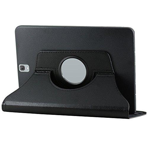 ebestStar - Funda Compatible con Samsung Galaxy Tab S3 9.7 SM-T820, SM-T825 Carcasa Cuero PU, Giratoria 360 Grados, Función de Soporte, Negro [Aparato: 237.3 x 169 x 6mm, 9.7'']