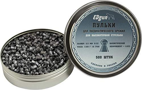 EDgun BALINES Premium Exact Calibre .22 (5,52 MM) · Peso 1,03G (15,89GR)