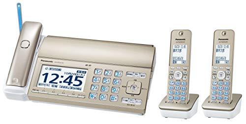 パナソニック おたっくす デジタルコードレスFAX 子機2台付き 迷惑電話対策機能搭載 シャンパンゴールド KX-PD725DW-N