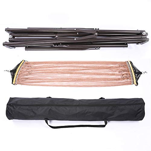 SAFLYZONE自立式折りたたみハンモック耐荷重300kg/高さ調節可能/組立て簡単室内室外兼用