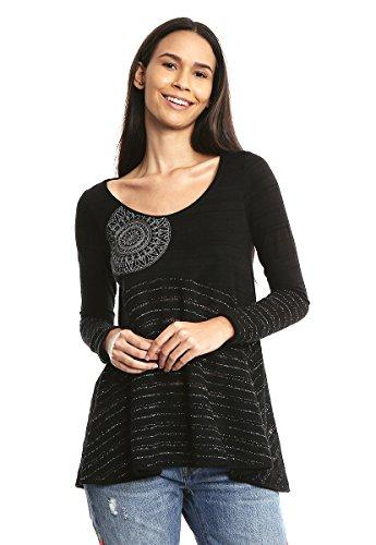Desigual TS_Noelia Camiseta, Negro (Negro 2000), X-Small para Mujer