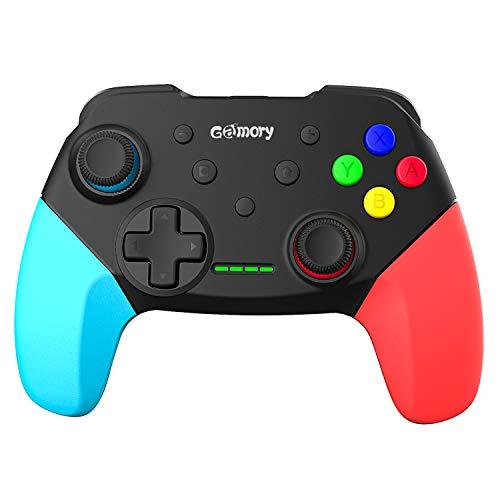 Gamory Controller für Nintendo Switch,Wireless Nintendo Switch Controller Mit Wiederaufladbarer Akku,Für Nintendo Switch Controller Gamepad Mit Einstellbarer Turbo Dualshock Gyro-Achse