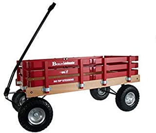 Berlin F600 Amish-Made All-Terrain Tires Loadmaster Wagon, Red