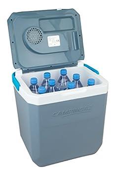 Campingaz Powerbox Plus électrique 12V et 230V, pour 8Bouteilles de 1,5 thermoélectrique, glacière pour Voiture et Camping, avec ProtectionUV, capacité de28litres Unisex-Adult, Bleu, 28 L